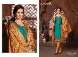 Nayaab Awesome Teal Green Embroidered Kurta With Banarasi Dupatta
