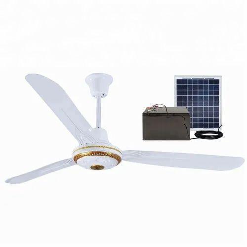 Plastic Fibre Solar Ceiling Fan 12 Circular Area 4 Sq Foot Id 22574563473