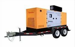 Diesel 250 KVA Silent DG Set Rental Service, For Industrial & Commercial
