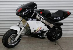 Black 49cc Pocket Bike