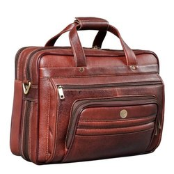 Brown 16 Inch Leather Laptop Bags