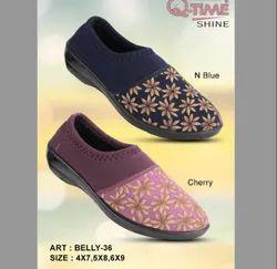 Casual Wear Belly-36 N Blue Ladies Fashion PU Shoes