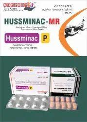 HUSSMINAC-P TABAceclofenac 100mg  Paracetamol 325mg