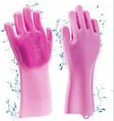 Silicone Hand Gloves, Design/Pattern: Full Finger