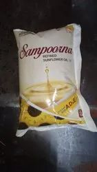 REFINED SUNFLOWER OIL 1LTR SAMPOORNA POUCH