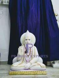 White Marble Lord Kabir Das Ji Statue