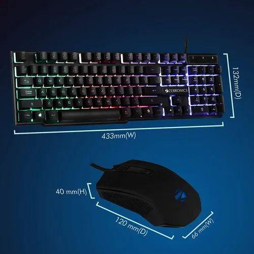 Zebronics Zeb-Fighter Gaming Keyboard And Mouse Combo, Mechanical Gaming Keyboard, Gamers Keyboard, RGB Gaming Keyboard, गेमिंग कीबोर्ड - I7 Solutions, Navi Mumbai | ID: 22576737173