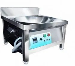 MD Stainless Steel Induction Kadai, Capacity: 18 Litres, Size: 24X24X24
