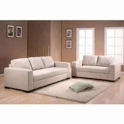 WOOD KRAFT Modern 3 2 FABRIC SOFA WITH RECRON PILLOW BACKREST, For Home, Hall