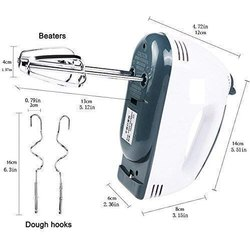 PLASTIC White GLOBAL MART Scarlett Super Hand Mixer 7 Speed Hand Blender, For Personal, Blade Material: Stainless Steel