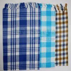 Cotton Checked Kitchen Towel, Size: 37x62 Cm