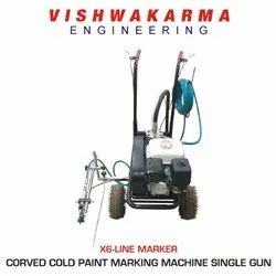 Corved Cold Paint Marking Machine Single Gun