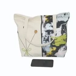 Sandex Corp Canvas Natural colors cotton carry bags, Capacity: 5kg