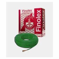 Round 6 Sq Mm Finolex Flame Retardant PVC Insulated Green Cable