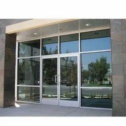 Aluminium Polished Aluminum Commercial Door, Thickness: 1 Inch