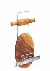 SS Chakla Belan Stand, Size: 18 Inch(height)