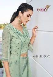 Arihant Nx Vamika Chiffon Readymade Top With Palazzo Pair Catalog Collection