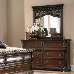 Malik Furniture Wooden Classic Dressing Table