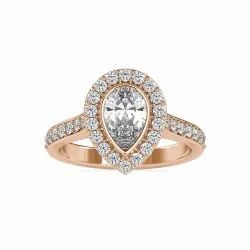 Pear Cut Full White Moissanite White,Yellow,Rose Gold For Engagement Wedding