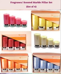 4 No. Scented Marble Pillar Set