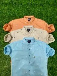 Cotton Printed Sparky Mens Casual Shirt