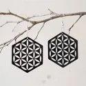 Hexagon Design Acrylic Design Earring