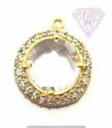 CZ Jewelry Bezel Connector