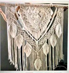 Cotton Rectangular Macrame Wall Hanging, For Decoration, Size: 35x40