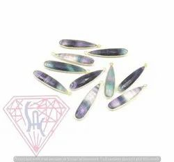 Fluorite Gemstone Bezel Connector
