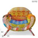 47 X 87 X 82 Cm Hotel Recycled Fabric Armchair