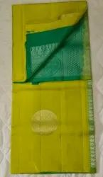 Lime & Forest Green Colors Silk Saree