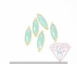 Aqua Chalcedony Gemstone Jewelry