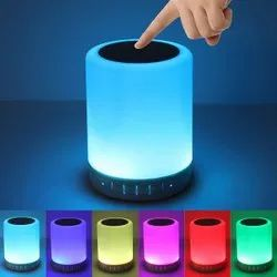 Battery Multicolor Touch Lamp Bluetooth Speaker, For Multi Purpose
