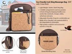 Eco-Friendly Cork Sling Messenger Bag