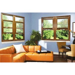 Glass Brown UPVC Vertical Slider Window, Glass Thickness: 12 Mm