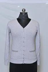 Woolen White Fancy Top