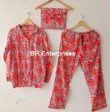 Night Wear Printed Girls Pajama Set, Size: S/m/l/xl