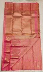 Jam Color Fancy Silk Saree