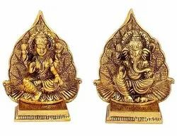 Metal Stand Laxmi Ganesha Table Decor And Office Pooja Idols Pooja Article