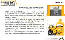 Expert Auto Care Service / Franchise Opportunity / Two Wheeler's Repair Shop ( Workshop)