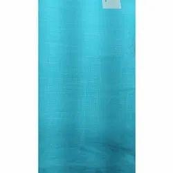 Sky Blue Plain Linen Fabrics, GSM: 150