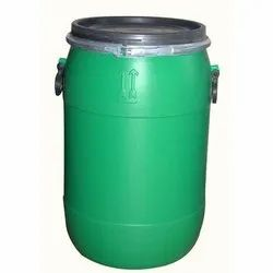 Chemicals Cylindrical 50 Liter Green HDPE Drums