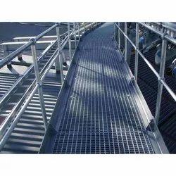 Mild Steel Panel Platform MS Railing, For Industrial, Floor