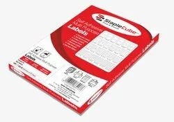 White Paper Labels A4 size multiple use stickers, Packaging Type: 100 Sheets Per Box