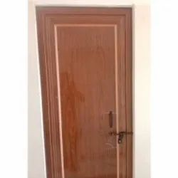 Polished Brown Hinged PVC Door, For Home, Exterior