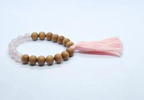Wooden And Gemstone Bracelet