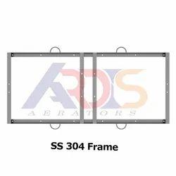 Silver 1 HP 4 Paddle SS 304 Angular Frame