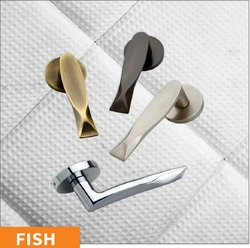 Fish Brass Mortise Handle