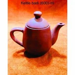 Glazed Brown Terracotta 600 ml Kettle, For Cooking