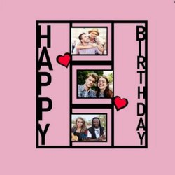 Wall Mount Birthday Photo Frame